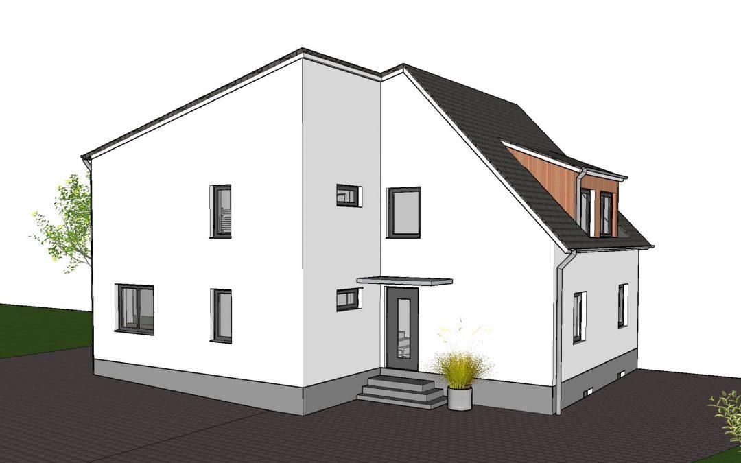Anbau und Umbau eines Einfamilienhauses